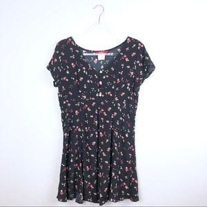 Esprit Vintage Dress Black with Floral Details Med